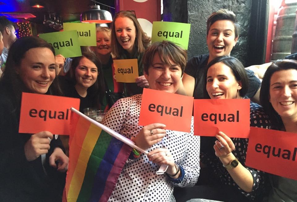 Lesbian women celebrate in Ireland